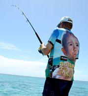 OKUMA BORN TO FISH T-SHIRT