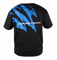 OKUMA TSHIRT INSPIRED FISHING SHORT SLEEVE BLACK